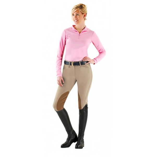 Ovation Taylored Front Zip Knee Patch Euro Seat Breeches